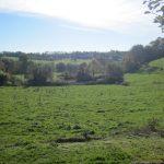 Vue sur la campagne depuis le jardin